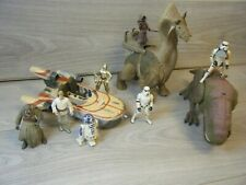 BUNDLE OF STAR WARS POWER OF THE FORCE FIGURES LAND SPEEDER RONTO AND MORE 1990s