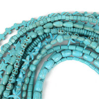 Blue Turquoise Gemstone Spacer Loose Beads Charm Findings 15'' Strand DE rr