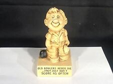 Vintage Paula RESIN - Old Bowlers Never Die - figurine Statue 1970