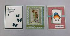 Greeting Cards Handmade Handcrafted Stamped Birthday New Baby Boy Sympathy