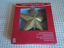 Yule Rite Gold Lighted Star Christmas Tree Top Topper Light New in box
