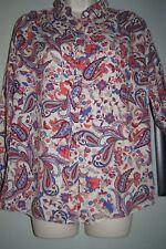 M & S Classic paisley shirt/blouse size 8 main colour Ivory
