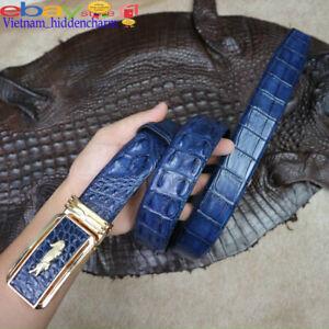 Luxury Men's Belt -NO Jointed Skin -Genuine Crocodile Skin Leather
