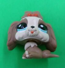 Littlest Pet Shop - Lps - Lhasa Apso Dog - Brown w/ Pink Bow & Blue Eyes - Used