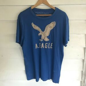 American Eagle Blue Short Sleeve Graphic Mens T-Shirt Size XL