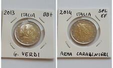 Lotto 2 Monete 2 Euro Commemorative ITALIA