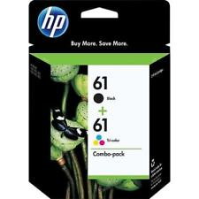 HP INK CARTRIDGES / 61 COMBO PACK BLACK & TRICOLOR / GENUINE ORIGINAL BRAND NEW!