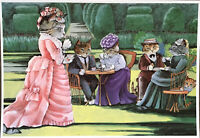 CATS'S TEA PARTY, Diary Of A Victorian Cat, Mayfair Cards Of London Postcard