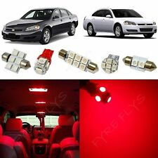 12x Red LED lights interior package kit for 2006-2013 Chevy Impala CI3R