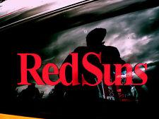 2 PCS Red Suns Car Bumper Window Vinyl Decal Sticker Initial D RX7 FD FC JDM