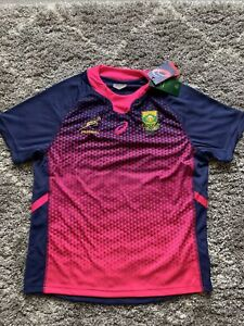 Asics South Africa Springboks Rugby Shirt Large Mens Pink