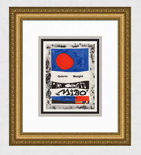 """Gallery Framed JOAN MIRO Exhibition Poster """"Miró- Ceuvres Récentes"""" SIGNED COA"""