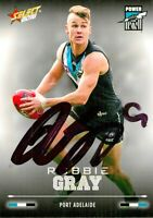 ✺Signed✺ 2016 PORT ADELAIDE POWER AFL Card ROBBIE GRAY