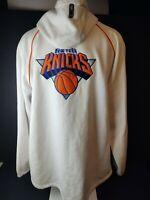 New York Knicks Adidas NBA On Court Full Zip Warm-Up Hoodie Jacket Men's Sz 4XL