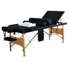 """New 84""""L 3 Fold Massage Table Portable Facial Bed W/ Sheet Bolsters Carry Case 3"""
