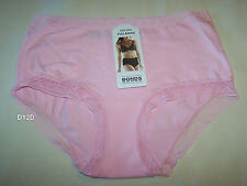 Bonds Ladies Icey Pink Lace Legs Full Bikini Brief Size 14 New