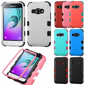 For Samsung Galaxy EXPRESS 3 / AMP 2 - Hybrid Armor Rugged Impact Case Cover