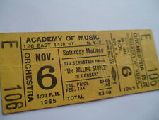 Rolling Stones_1965_Original_*Unu sed*_Concert Ticket_Academy Music_Nyc
