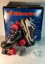 Skechers 4 Wheelers Roller Skates Navy Blue and Pink Women's Size 9 Skate
