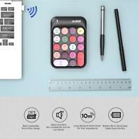 2.4GHz Wireless Numeric Keypad Financial Accounting Round Keycap Mini Keyboard