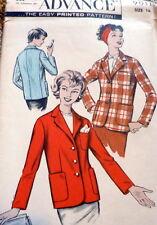 LOVELY VTG 1950s JACKET ADVANCE Sewing Pattern 16/36