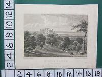 1829 Fecha Antigüedad Yorkshire Estampado ~ Wilton Castillo Asiento de Sir John