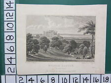 1829 DATED ANTIQUE YORKSHIRE PRINT ~ WILTON CASTLE SEAT OF SIR JOHN LOWTHER ~