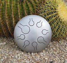 """Natural EDELSTAHL  Mini-Vibedrum – 8 Töne - 25,5 cm -  """"Desert"""" Scale - handpan"""