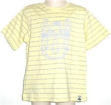 Boys yellow grey stripe cotton t shirt top sz 1 NEW