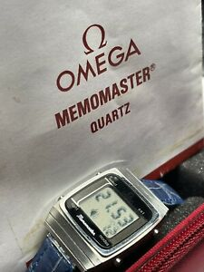 Rare Omega Memomaster Cal.1637 LCD Watch, w/manual and Hardcase