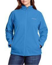 COLUMBIA Kruser Ridge Softshell Full Zip Jacket Women Plus 1X STORMY BLUE