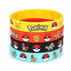 Pokemon Party Wristband Bracelet Tattoos Bangle Party Bags - UK stock QTY 1 - 8