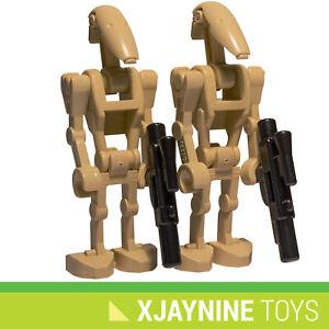 GENUINE LEGO STAR CLONE WARS Battle Droid Minifig Two Pack + Blaster Guns NEW