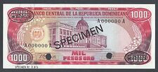 Dominican Republic 1000 Pesos 1978 P124as1 Specimen TDLR Uncirculated