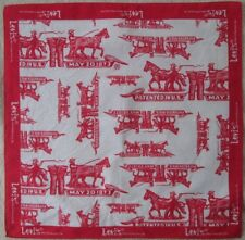 -Joli Foulard LEVIS  100% coton  TBEG  vintage Scarf 54 x 56 cm