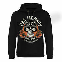 Official Licensed Gas Monkey Garage (GMG) Skull Epic Hoodie S-XXL (Black)