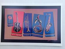 LOT (6) NEW 1986 NEW ORLEANS JAZZ HERITAGE FESTIVAL FEST  POSTER CARD POSTCARDS
