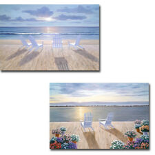 Friends and Lovers & Among Friends 2-pc Gallery-Wrapped Canvas Giclee Art Set