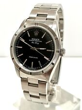 Rolex Airking Oyster Perpetual, Black Gloss Dial, Engine Turned Bezel. Collector