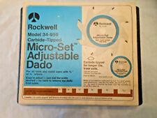 Rockwell 34-959 carbide tipped Micro set adjustable Dado ? unused ? nice