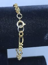 Sterling Silver 925 Gold Tone Link Bracelet Made In Italy