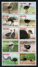 Aruba 2015 MNH Ostriches 10v Block Birds Struisvogels Vogels Stamps