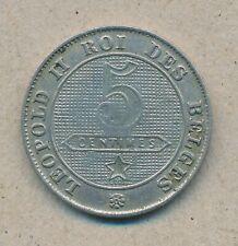 België/Belgique 5 ct. Leopold II 1901 Fr Morin 252a (13496)