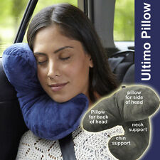 ULTIMO PILLOW Ultimate Travel Pillow Neck Flight J Shape Head Chin Support