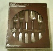 New Vintage Ekco  Excellence 24 piece stainless tableware Old Hampshire Japan