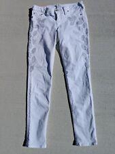 True Religion Stella Women's White Skinny Jeans Floral Stud Size 31 VGC