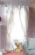 Dolls House Miniature Emporium Pair of Curtains on a Pole Pink, White or Green