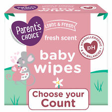 New ListingParent's Choice Fresh Scent Baby Wipes 240, 500, 800 Count Packs, Hypoallergenic