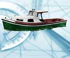 """Model Boat PLAN 1/16 Scale 21"""" Thames Tender R/C F/C Printed Plan & Build Notes"""