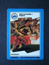 Greg Alexander Scanlens 1989 Rugby League Card # 52